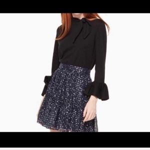 Kate spade mighty sky lured dot skirt size 8,